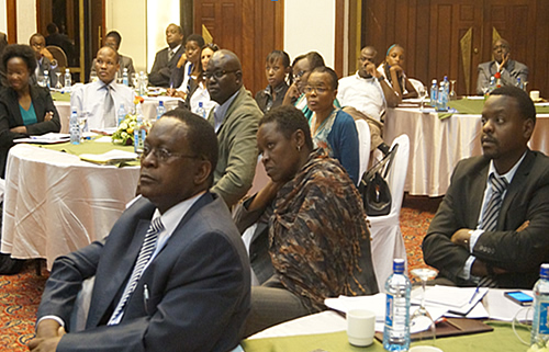Participants follow proceedings during the Stakeholders Forum on Social Assistance Act in Nairobi.